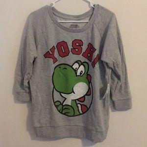 Yoshi gray sweater sweatshirt